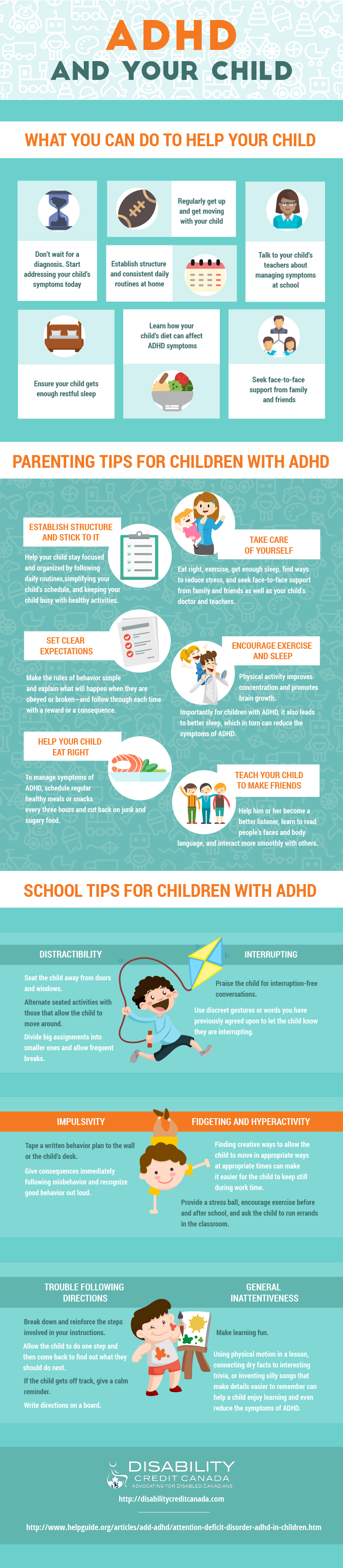 ADHD in Children and tips and tricks for parents and teachers