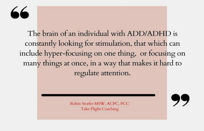 Brain of ADHD individual